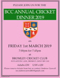 Bromley Cricket Annual Dinner